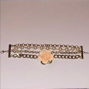 Jewelry - Layered flower bracelet